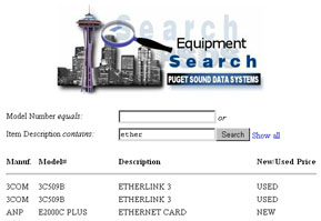 Puget Sound Data Systems screen snapshot